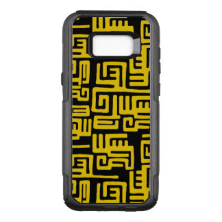 Funda Commuter De OtterBox Para Samsung Galaxy S8+ Modelo tribal amarillo mínimo del africano negro