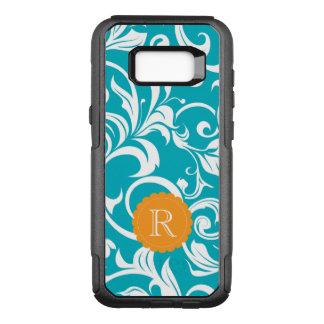 Funda Commuter De OtterBox Para Samsung Galaxy S8+ Monograma anaranjado verde azulado del remolino