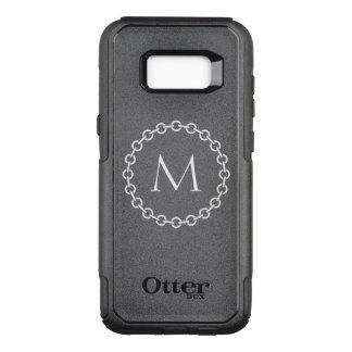 Funda Commuter De OtterBox Para Samsung Galaxy S8+ Monograma blanco del círculo del anillo de la