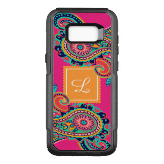 Funda Commuter De OtterBox Para Samsung Galaxy S8+ Monograma brillante de Paisley del rosa de arco