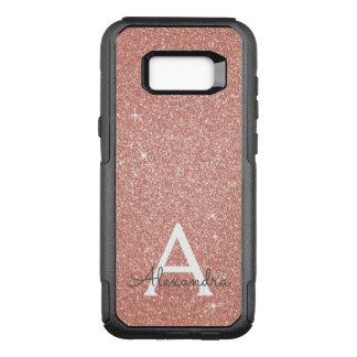 Funda Commuter De OtterBox Para Samsung Galaxy S8+ Monograma color de rosa rosado del purpurina y de