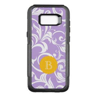Funda Commuter De OtterBox Para Samsung Galaxy S8+ Monograma del remolino del papel pintado floral