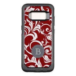 Funda Commuter De OtterBox Para Samsung Galaxy S8 Monograma elegante del remolino del papel pintado