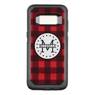 Funda Commuter De OtterBox Para Samsung Galaxy S8 Monograma rojo del nombre del leñador de la tela