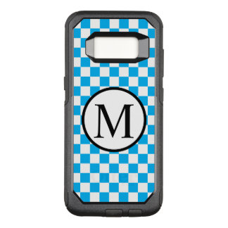 Funda Commuter De OtterBox Para Samsung Galaxy S8 Monograma simple con el tablero de damas azul