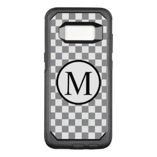 Funda Commuter De OtterBox Para Samsung Galaxy S8 Monograma simple con el tablero de damas gris