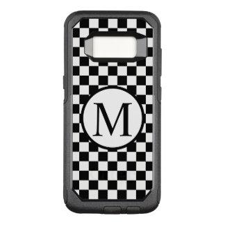 Funda Commuter De OtterBox Para Samsung Galaxy S8 Monograma simple con el tablero de damas negro