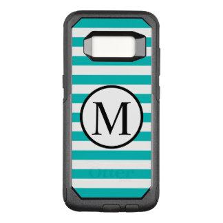 Funda Commuter De OtterBox Para Samsung Galaxy S8 Monograma simple con las rayas horizontales de la