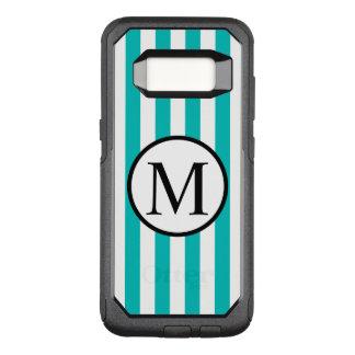 Funda Commuter De OtterBox Para Samsung Galaxy S8 Monograma simple con las rayas verticales de la