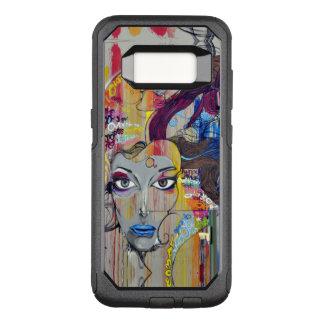 Funda Commuter De OtterBox Para Samsung Galaxy S8 Mujer hermosa con la pintada azul de los labios