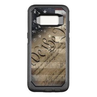 Funda Commuter De OtterBox Para Samsung Galaxy S8 Nosotros la bandera americana del vintage de la