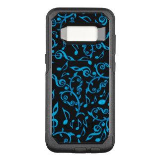 Funda Commuter De OtterBox Para Samsung Galaxy S8 Notas de la música de las azules turquesas sobre