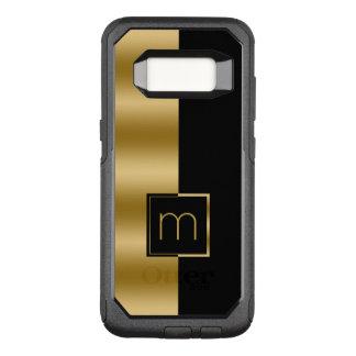 Funda Commuter De OtterBox Para Samsung Galaxy S8 Oro moderno simple y diseño geométrico negro