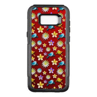 Funda Commuter De OtterBox Para Samsung Galaxy S8+ Pájaros y flores de la primavera roja
