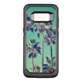 Funda Commuter De OtterBox Para Samsung Galaxy S8 Palmeras tropicales del vintage en trullo