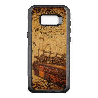 Funda Commuter De OtterBox Para Samsung Galaxy S8+ Papel pintado del tren de Steampunk del vintage