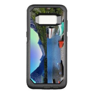 Funda Commuter De OtterBox Para Samsung Galaxy S8 Parque Nacional Glacier Montana del lago dos