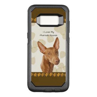 Funda Commuter De OtterBox Para Samsung Galaxy S8 Perro del Pharaoh en las hojas del moreno con