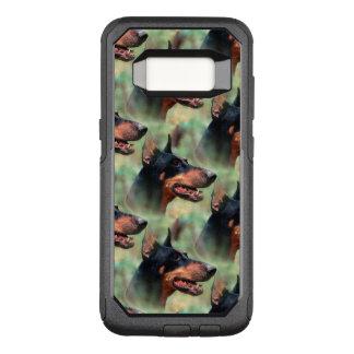 Funda Commuter De OtterBox Para Samsung Galaxy S8 Pinscher del Doberman en las maderas