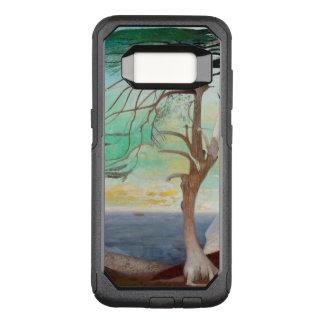Funda Commuter De OtterBox Para Samsung Galaxy S8 Pintura de paisaje sola del árbol de cedro