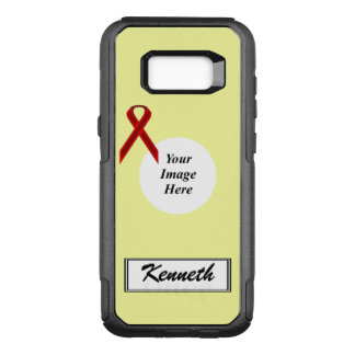 Funda Commuter De OtterBox Para Samsung Galaxy S8+ Plantilla de la cinta de Borgoña Stnd de Kenneth