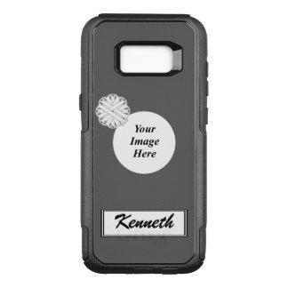 Funda Commuter De OtterBox Para Samsung Galaxy S8+ Plantilla de la cinta de la flor blanca de Kenneth