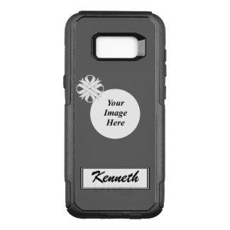 Funda Commuter De OtterBox Para Samsung Galaxy S8+ Plantilla de la cinta del trébol blanco de Kenneth