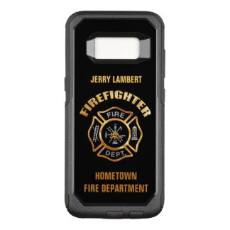 Funda Commuter De OtterBox Para Samsung Galaxy S8 Plantilla del nombre del bombero del oro