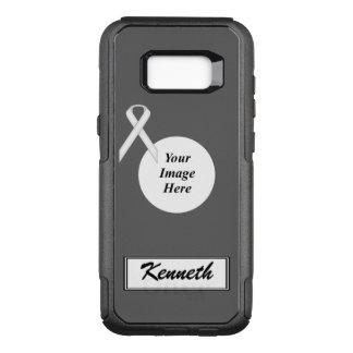 Funda Commuter De OtterBox Para Samsung Galaxy S8+ Plantilla estándar blanca de la cinta de Kenneth