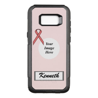 Funda Commuter De OtterBox Para Samsung Galaxy S8+ Plantilla estándar rosada de la cinta de Kenneth