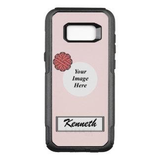 Funda Commuter De OtterBox Para Samsung Galaxy S8+ Plantilla rosada de la cinta de la flor de Kenneth