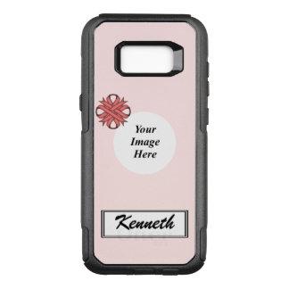 Funda Commuter De OtterBox Para Samsung Galaxy S8+ Plantilla rosada de la cinta del trébol de Kenneth