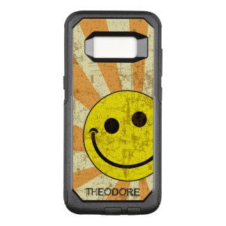 Funda Commuter De OtterBox Para Samsung Galaxy S8 Plantilla sonriente retra del nombre del