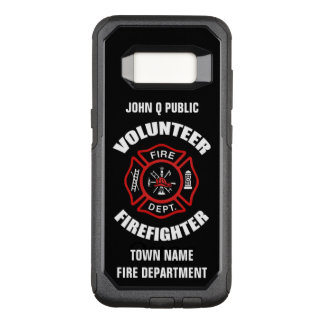 Funda Commuter De OtterBox Para Samsung Galaxy S8 Plantilla voluntaria del nombre del bombero