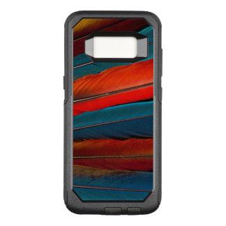 Funda Commuter De OtterBox Para Samsung Galaxy S8 Plumas de cola del Macaw del escarlata