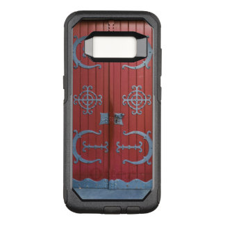 Funda Commuter De OtterBox Para Samsung Galaxy S8 Puertas de madera rojas viejas con las ayudas del