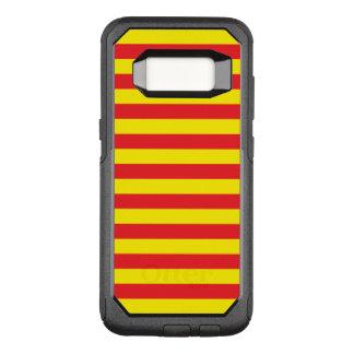 Funda Commuter De OtterBox Para Samsung Galaxy S8 Rayas horizontales amarillas y rojas