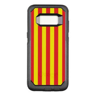 Funda Commuter De OtterBox Para Samsung Galaxy S8 Rayas verticales amarillas y rojas