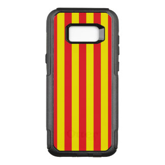 Funda Commuter De OtterBox Para Samsung Galaxy S8+ Rayas verticales amarillas y rojas