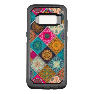 Funda Commuter De OtterBox Para Samsung Galaxy S8 Remiendo bohemio colorido de la mandala