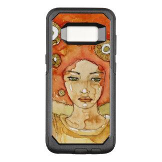 Funda Commuter De OtterBox Para Samsung Galaxy S8 Retrato de un chica hermoso