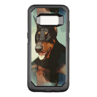 Funda Commuter De OtterBox Para Samsung Galaxy S8 Retrato del Pinscher del Doberman
