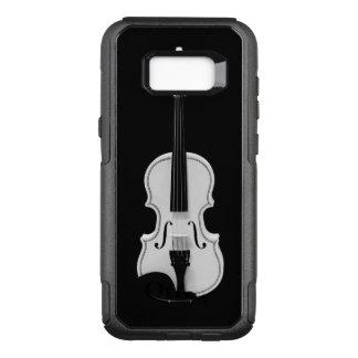 Funda Commuter De OtterBox Para Samsung Galaxy S8+ Retrato del violín - fotografía blanco y negro