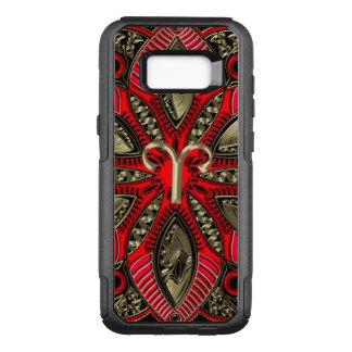 Funda Commuter De OtterBox Para Samsung Galaxy S8+ Rojo y aries de la muestra del zodiaco del oro