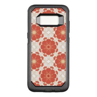 Funda Commuter De OtterBox Para Samsung Galaxy S8 Rojo y modelo floral del cordón del oro