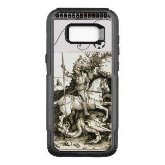 Funda Commuter De OtterBox Para Samsung Galaxy S8+ SAN JORGE Y DRAGÓN, blanco negro