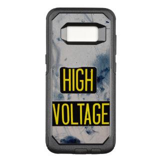 Funda Commuter De OtterBox Para Samsung Galaxy S8 Señal de peligro de alto voltaje