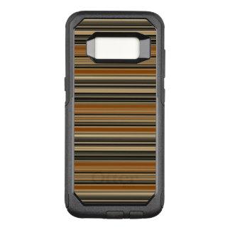 Funda Commuter De OtterBox Para Samsung Galaxy S8 Silla de montar Brown y modelo rayado negro