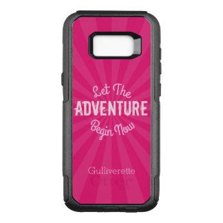 Funda Commuter De OtterBox Para Samsung Galaxy S8+ Starburst rosado dejó la aventura ahora comenzar