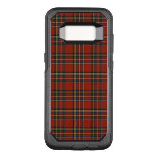 Funda Commuter De OtterBox Para Samsung Galaxy S8 Tela escocesa escocesa clásica real roja y azul de